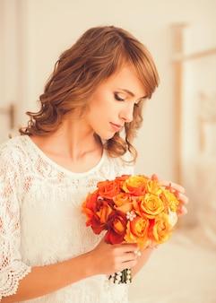 かわいい花嫁の肖像画