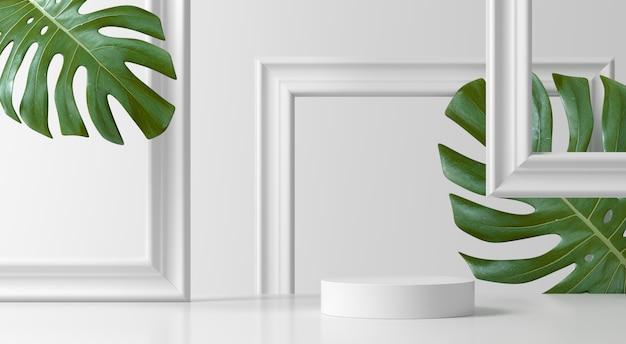 抽象的なシーン。製品のジオメトリ形状表彰台背景