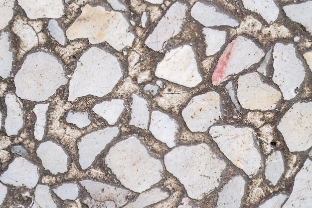 クローズアップ表面の古い大理石の石造りの床の質感