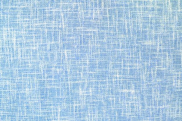 青い枕カバーテクスチャ背景のクローズアップ面