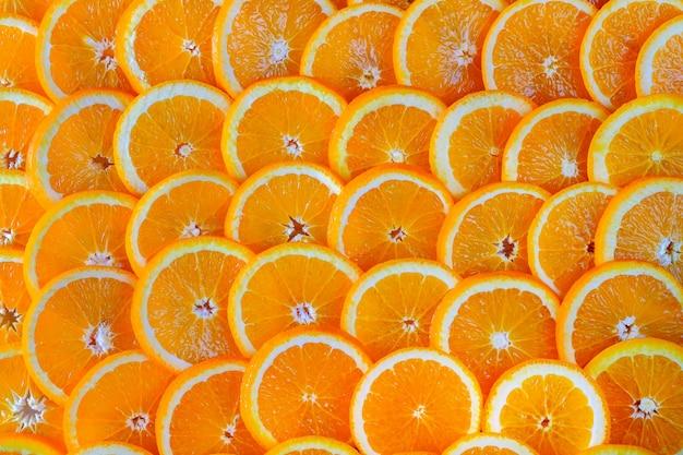 スライスされたオレンジの抽象的な背景。