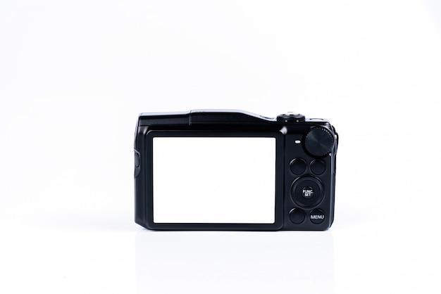 分離したデジタルコンパクトカメラの背面図