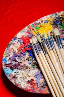 アートコンセプトのアーティストパレット