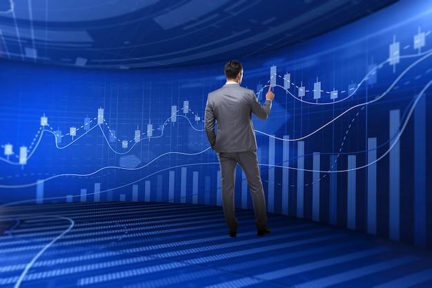 Человек на бирже торговой концепции