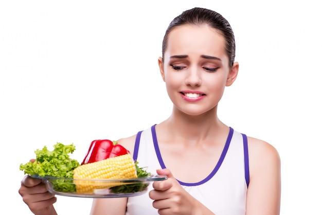 Женщина в концепции здорового питания