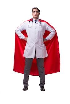 分離されたスーパーヒーローの医者