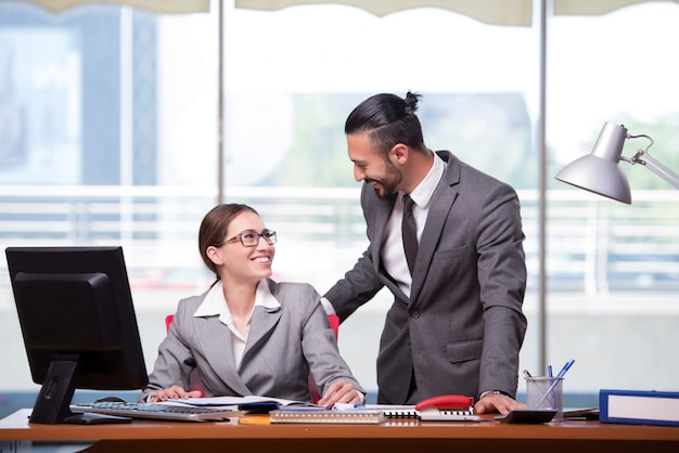 女と男のビジネスコンセプト