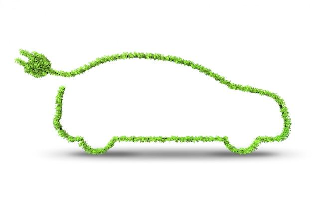 Электрический зеленый автомобиль