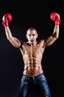 Разорванный боксер в спортивной концепции