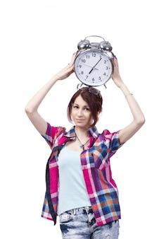 学生と時計の教育コンセプト