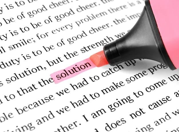 Выделение и текстовое решение