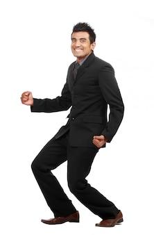Молодой счастливый бизнесмен