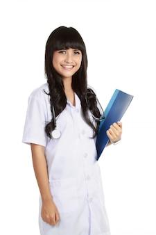 若い自信を持って医師女性