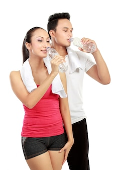 運動後の飲用水