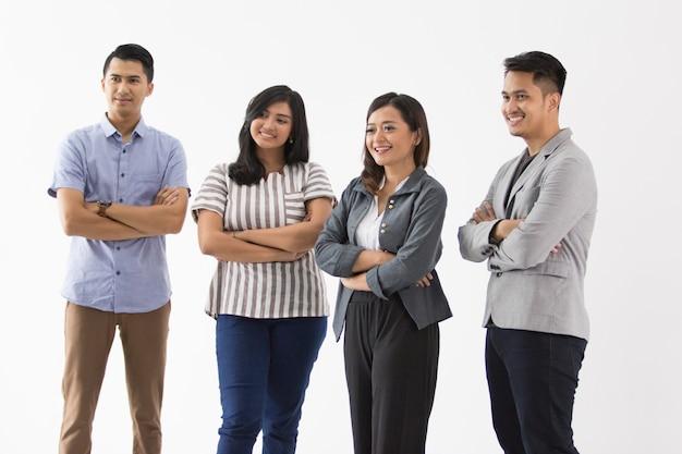 若いビジネス人々のグループ