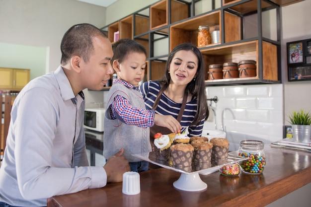 家族のコンセプトで調理時間
