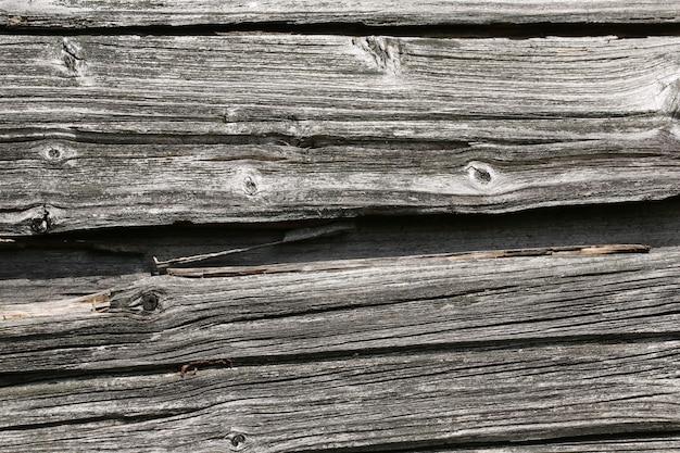 ひびの入った古い木製の壁ヴィンテージの背景