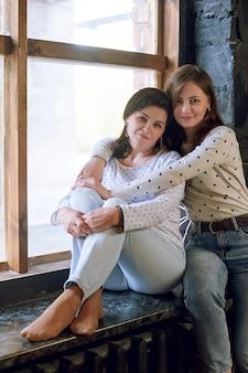 美しい女性と娘、成功した女性