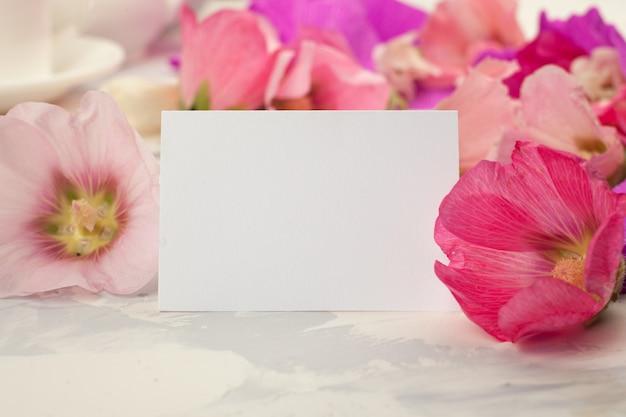 花と母の日カードのグリーティングカード