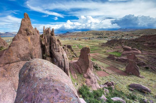 ペルーのユニークな岩