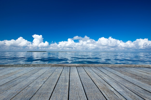 ドックからの海の景色
