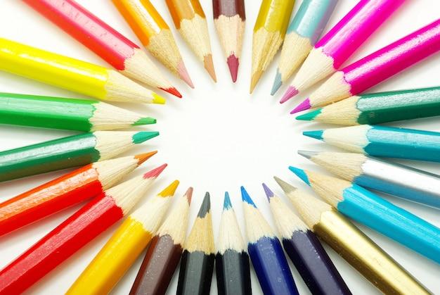 Фон цветные карандаши
