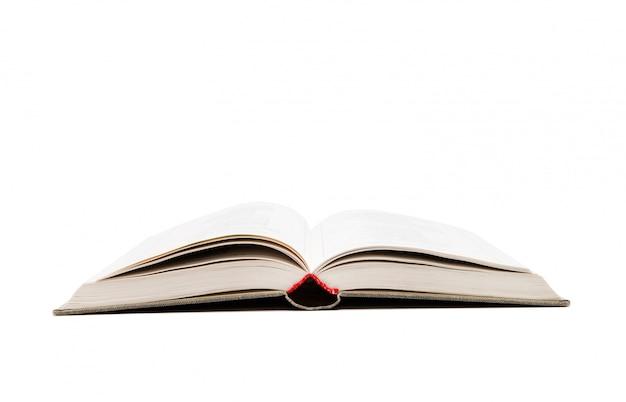 Открытая книга на белом