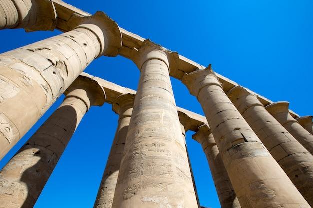 エジプトのカルナック神殿の遺跡