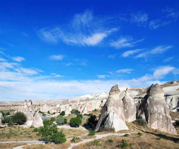 山の風景。トルコ、アナトリアのカッパドキア。