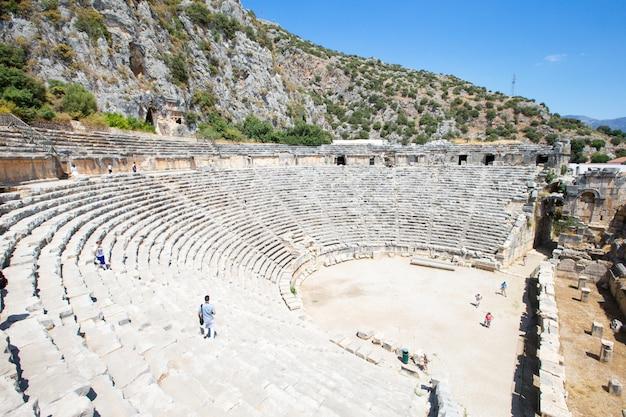 マイラ、トルコの古代円形劇場