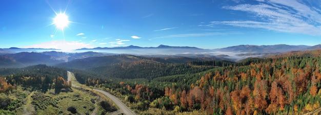 Карпатская гора солнечный пейзаж