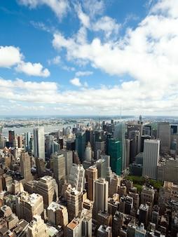 マンハッタン、ニューヨーク市の街並みの眺め。
