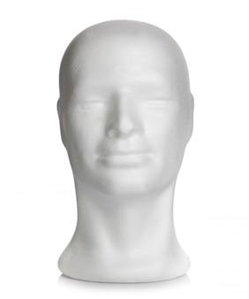 発泡スチロールの男性の頭