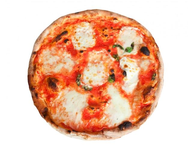 モッツァレラチーズのスライスとピザマルゲリータ