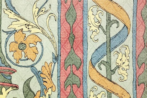 Винтажный стиль гобеленовой ткани.