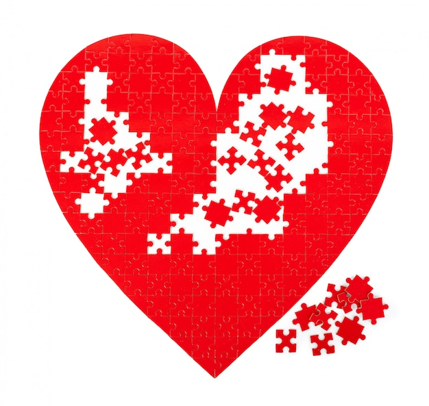 Игры пазлы красное сердце