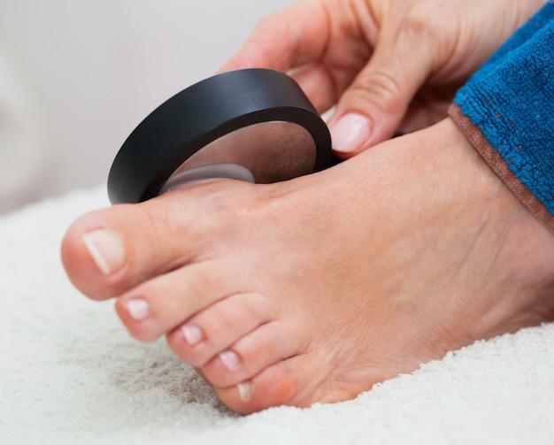 足の超音波治療