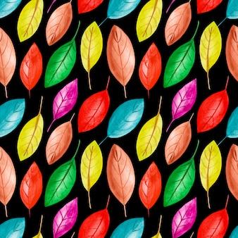 Иллюстрация красочные акварельные листья