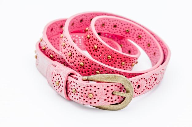 Розовые женские ремни