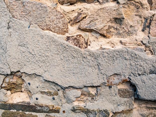 古い石の壁。グランジテクスチャ背景
