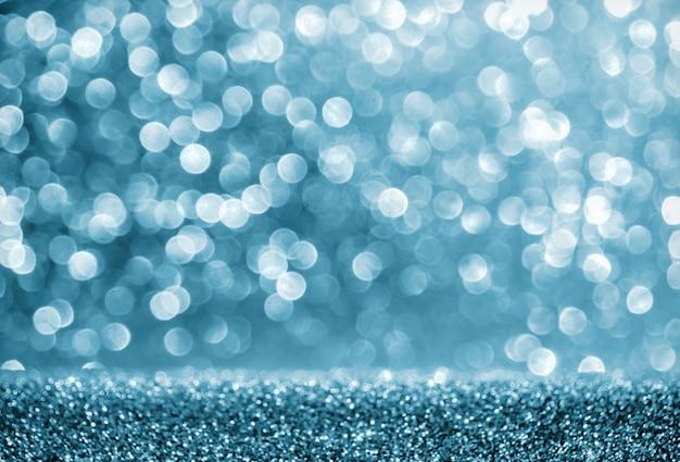 Синий абстрактный фон с боке