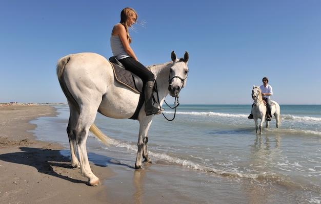 ビーチでの乗馬