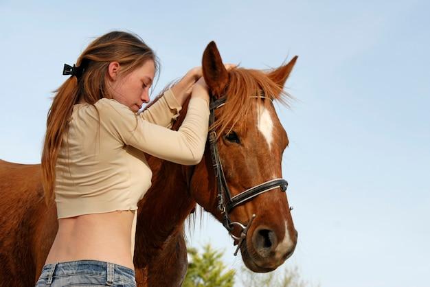ティーンと馬