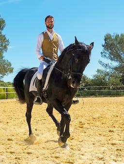 乗馬男の訓練