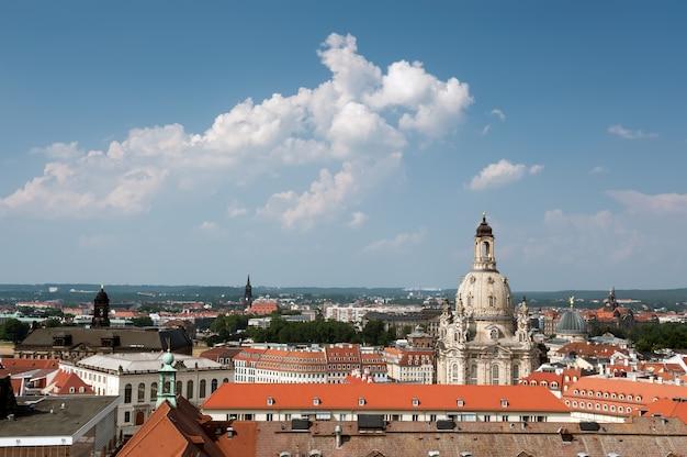ドレスデン旧市街の空撮