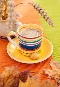 Осенняя кофейная чашка