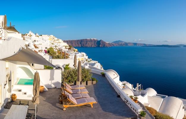 サントリーニ島、ギリシャのイア村