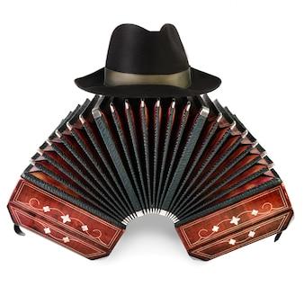 Бандонеон, инструмент танго и хижина