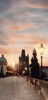 プラハのカレル橋、彩色画像