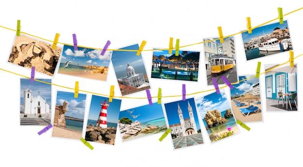 Туристические фотографии из португалии, коллаж